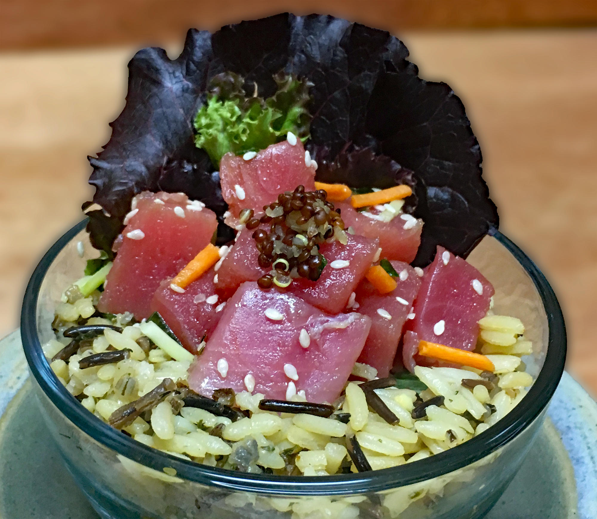Marinated Tuna with Banquet Wild Rice Blend