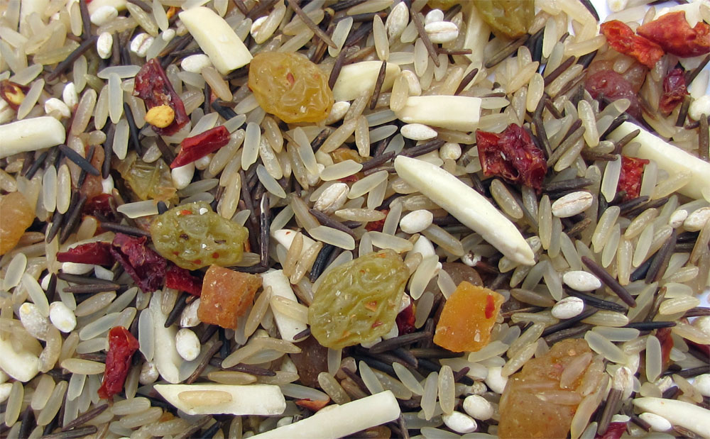 Wild Rice with Raisins, Apricots, Barley, Almonds, Fruit Blend